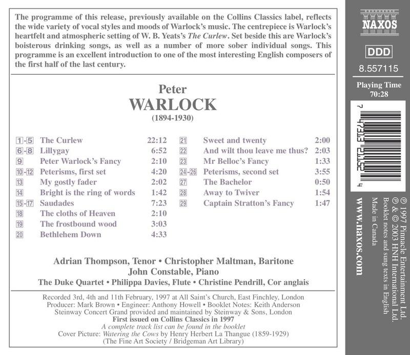 Petit guide discographique de la mélodie britannique. 71g4ox10