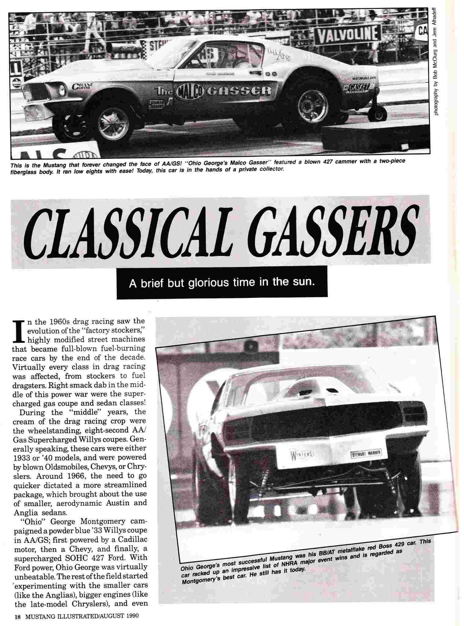 """Ohio George"" Montgomery- 1967 lightweight fiberglass Mustang-The Malco Gasser Malco_10"