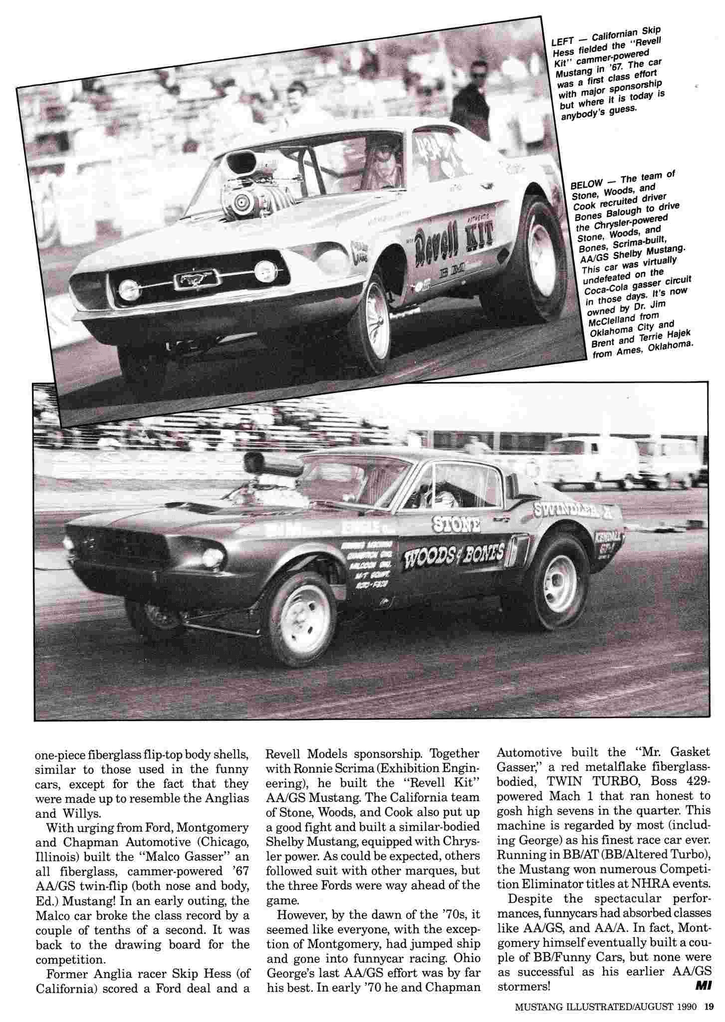 """Ohio George"" Montgomery- 1967 lightweight fiberglass Mustang-The Malco Gasser Malco_11"