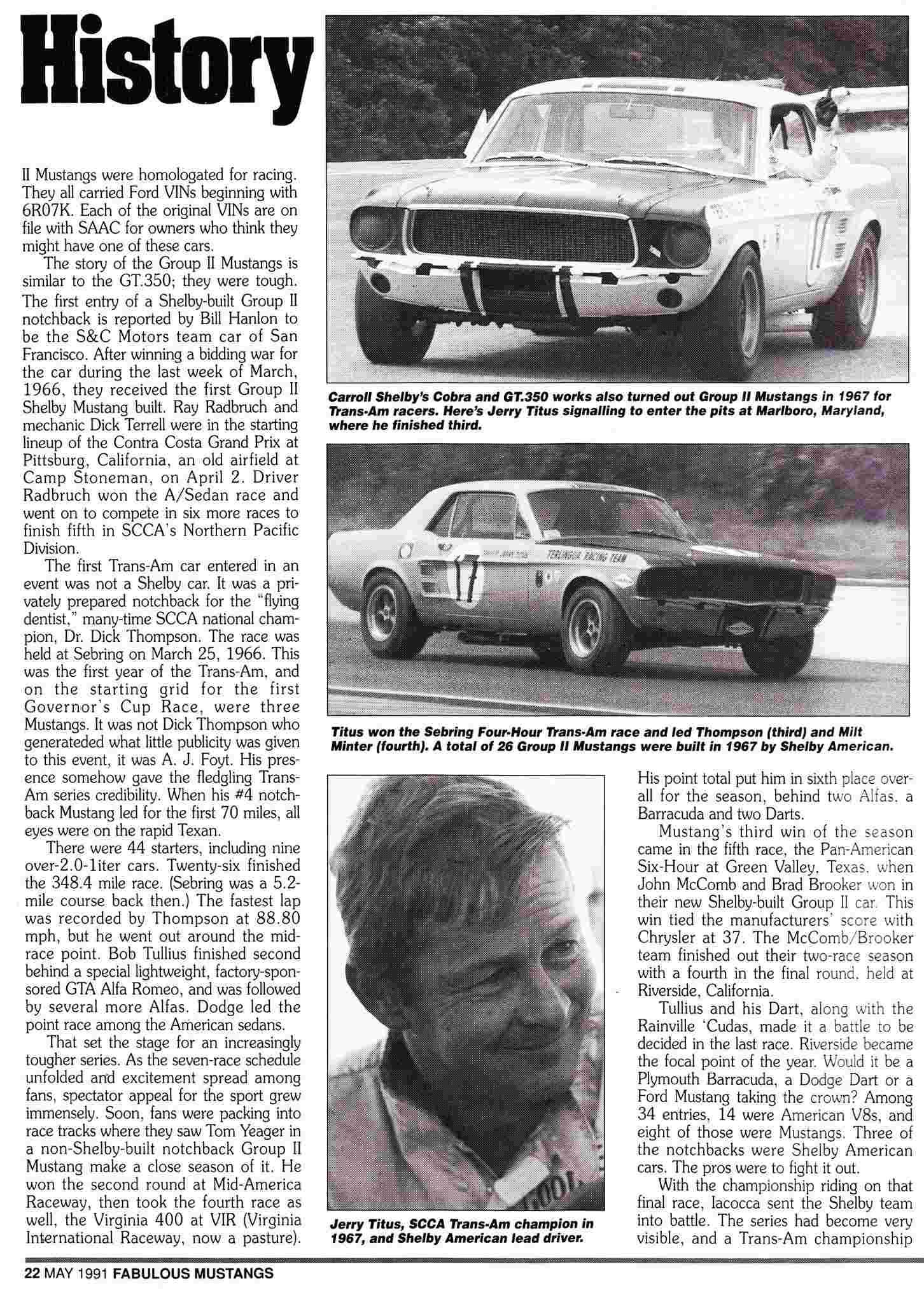 L'équipe de course Terlingua de Shelby-American en 1967 Titus_10