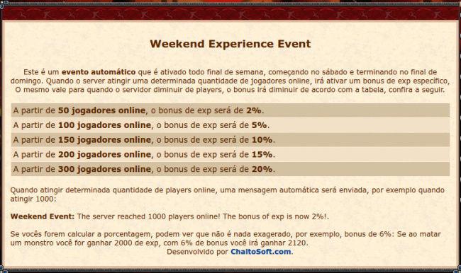[Sistema] Exp Weekend Event (8.60) 14102410