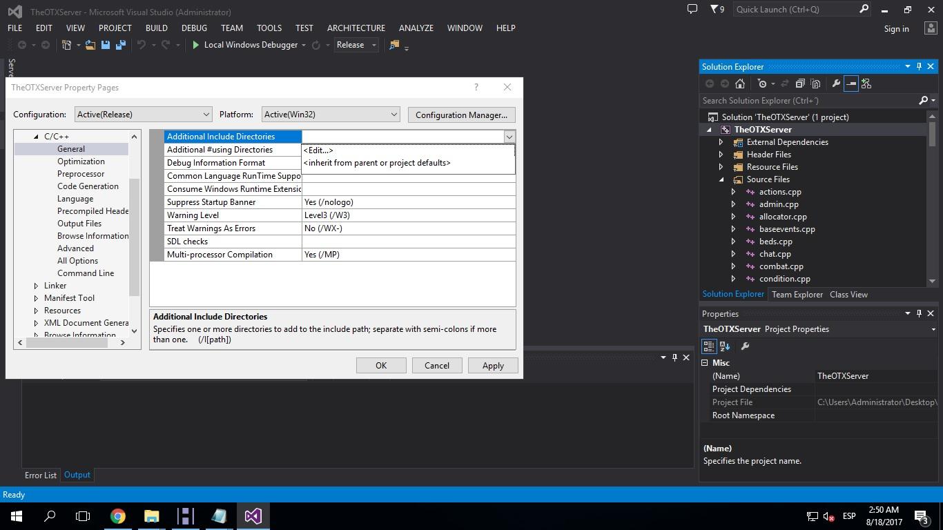 [Tutorial] Compilar Otx 2.9 (versiones bajas) y Tfs 1.0 410