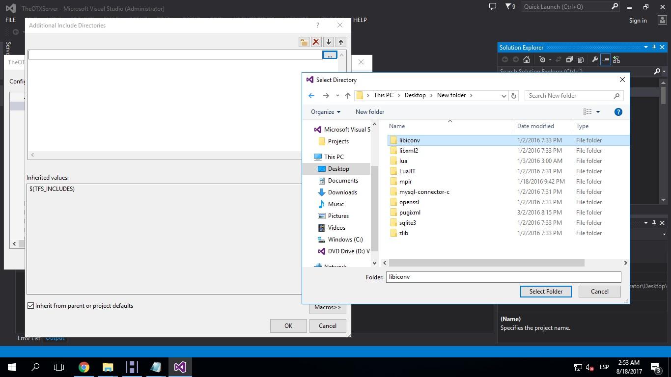 [Tutorial] Compilar Otx 2.9 (versiones bajas) y Tfs 1.0 510