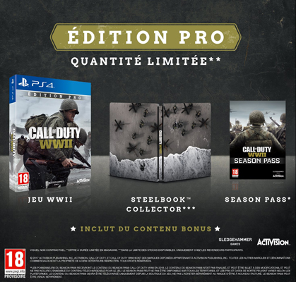 Call of Duty WW2 Collector et édition PRO Ww2210
