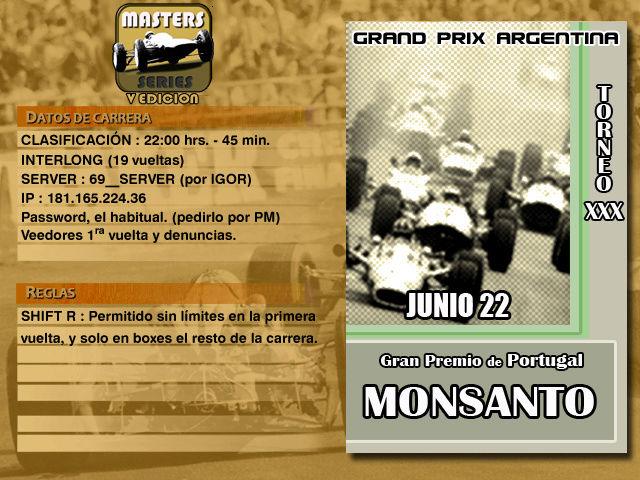 Masters Series 5ta Edición (MOD69 Extra) - Monsanto Master10