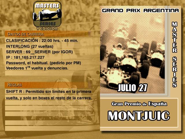 Masters Series 5ta Edición (MOD69 Extra) - Montjuic Master11