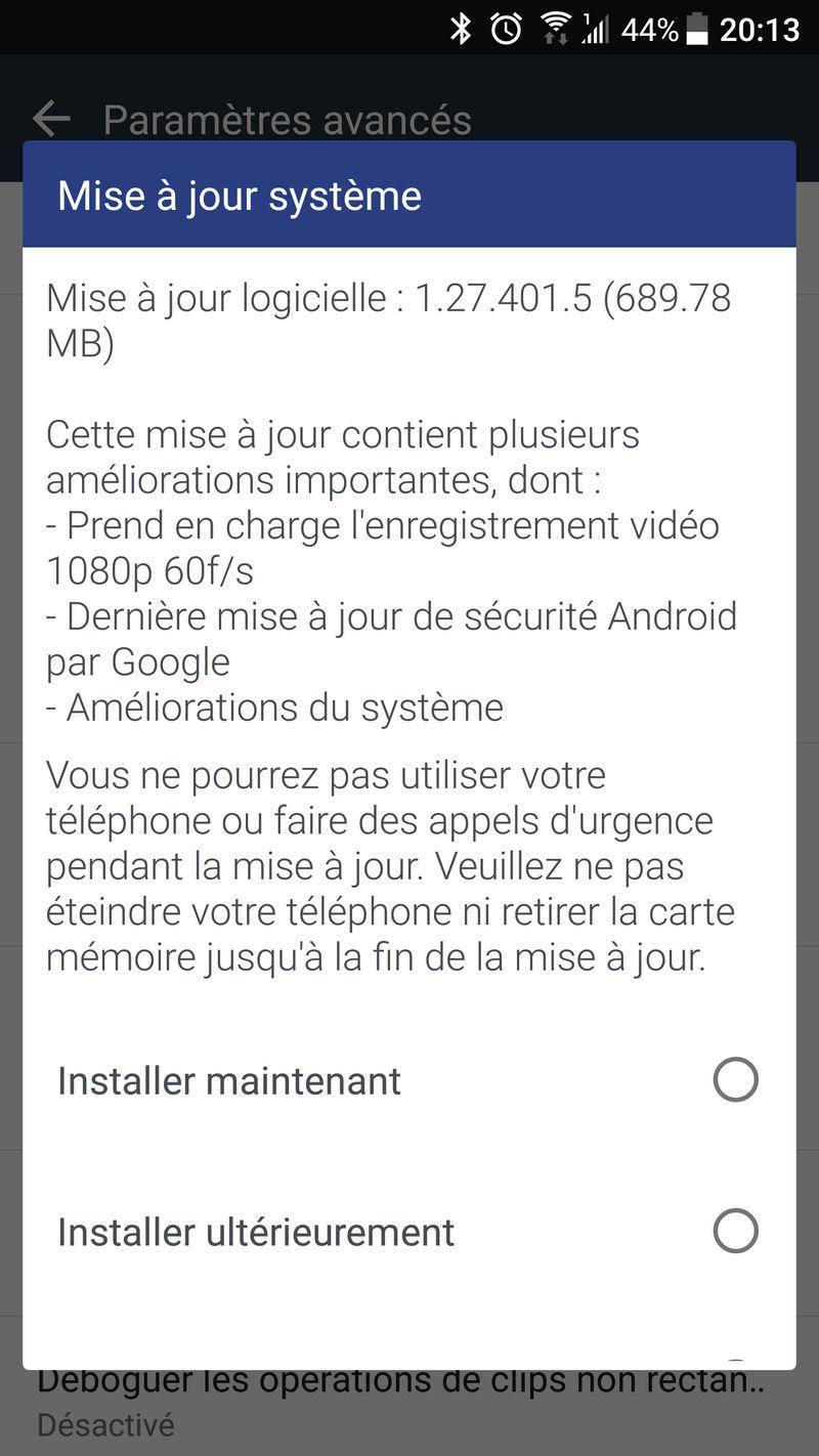 [Discussions/info] Les mises à jour du HTC U11 Screen10