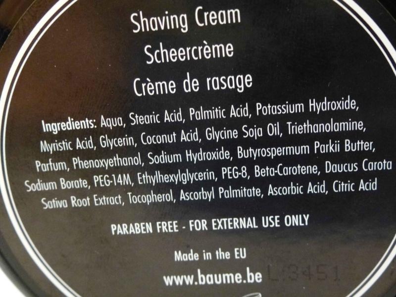 Crème à raser baume.be P1000317