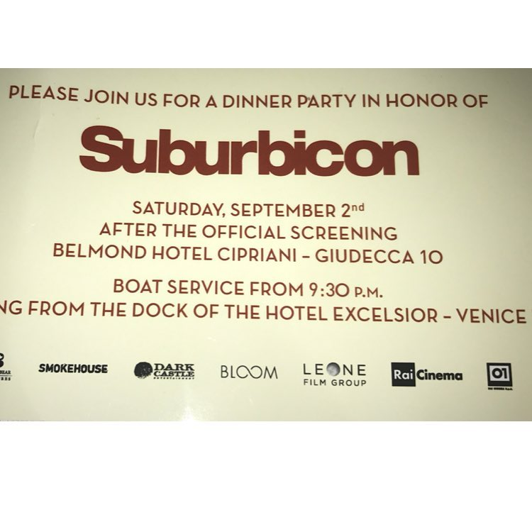 Suburbicon dinner at the Cipriani last night........ 21294910
