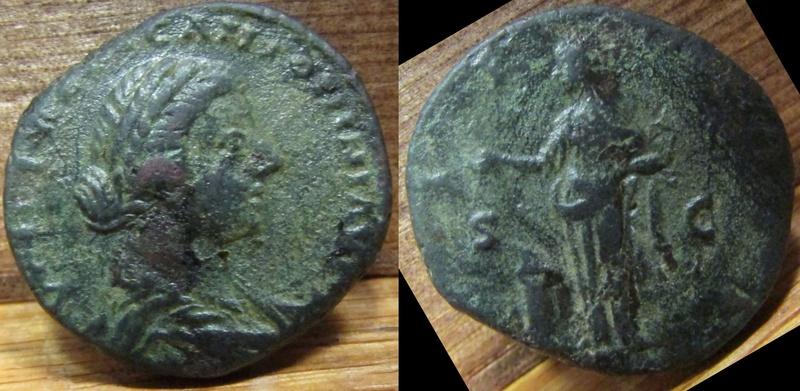 """As (ou dupondius ?) de Lucille """"PIETAS"""" ... 1214"""