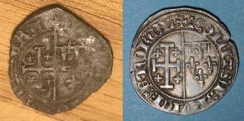 Denier de Jeanne de Naples et Louis de Tarente pour Naples  Presse11