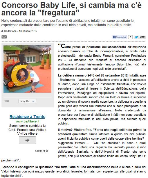 """FINALMENTE CI SIAMO (O QUASI)!!! DELIBERA N. 2048/2012 DELLA GIUNTA PROVINCIALE DELLA PROVINCIA AUTONOMA DI TRENTO. LE LAUREE VENGONO FINALMENTE RICONOSCIUTE, MA QUEL TIROCINIO """"PUBBLICO"""" ESCLUDE TANTI LAUREATI!!! CHIEDIAMO UN PICCOLO SFORZO PER NON DANNE Cattur11"""