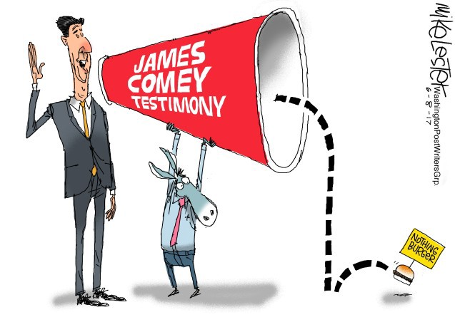 Who said God isn't involved in politics?!  Comey10