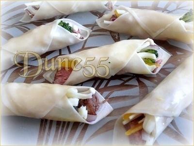 Mini-tacos won-ton au rôti de bœuf Gpiez610