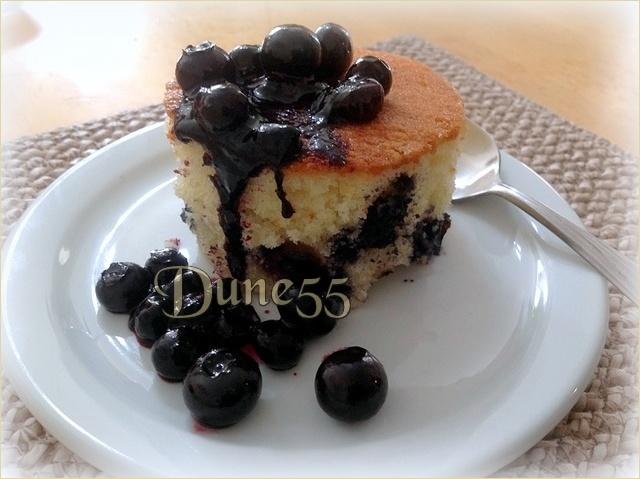Gâteau éponge aux bleuets T72b4p10