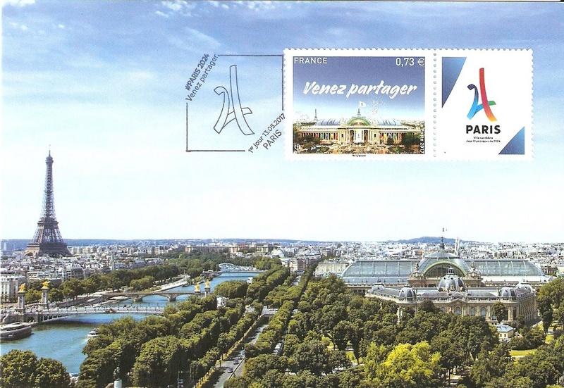 CARTES POSTALES PARIS 2024 Numyri21