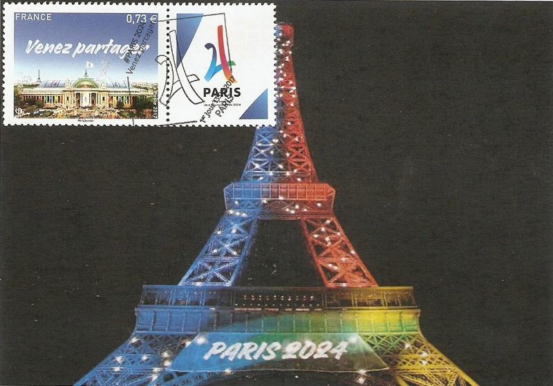 CARTES POSTALES PARIS 2024 Numyri22