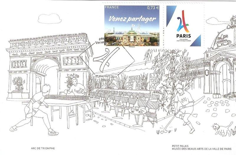 CARTES POSTALES PARIS 2024 Numyri26