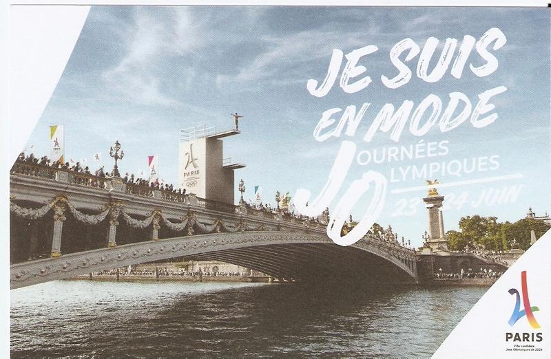 CARTES POSTALES PARIS 2024 Numyri29