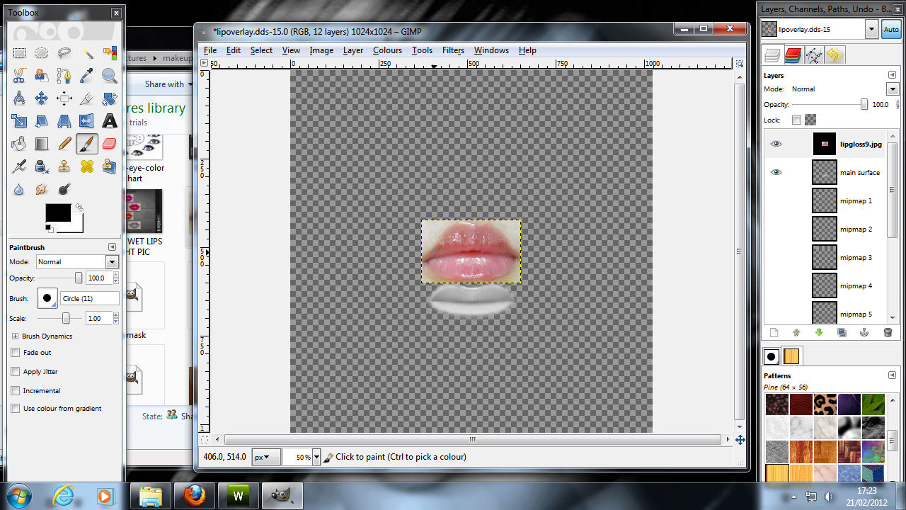 Making Lipgloss for sims 3 1410