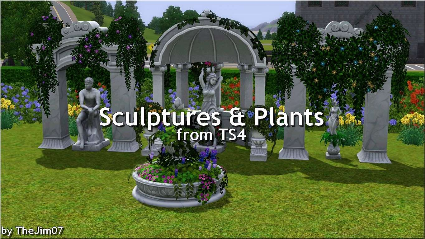 Sculptures & Plants from TS4 (converted to Sims 3) by TheJim07 Mts_th10