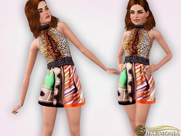 TEEN ~ Designer Printed Dress by Harmonia W-600h12
