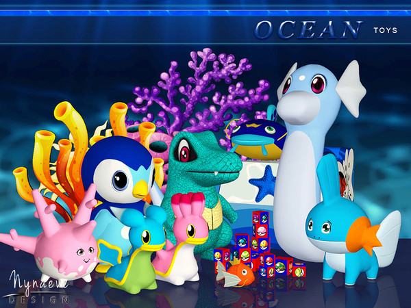Ocean Toys by NynaeveDesign W-600h16