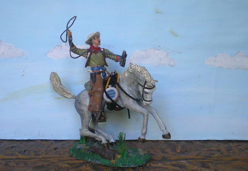 Cowboy zu Pferd mit Lasso - Umbau in der Figurengröße 7 cm - Seite 2 139j4b10