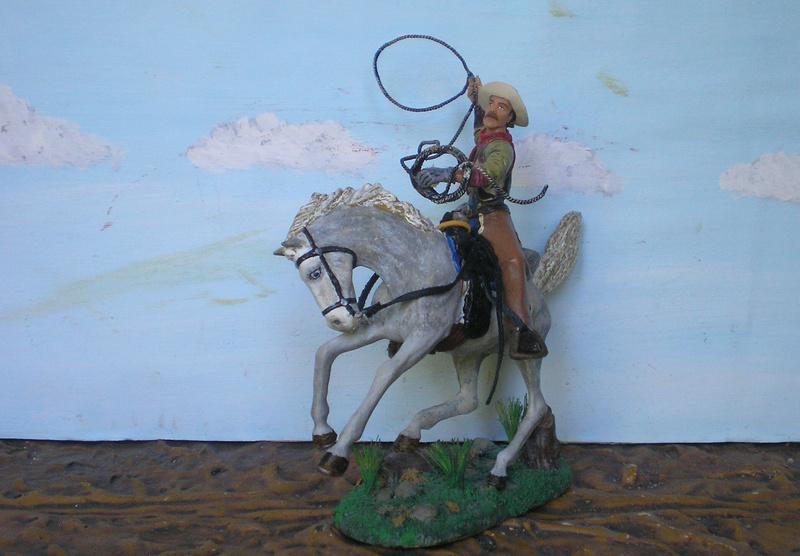 Cowboy zu Pferd mit Lasso - Umbau in der Figurengröße 7 cm - Seite 2 139j4b11