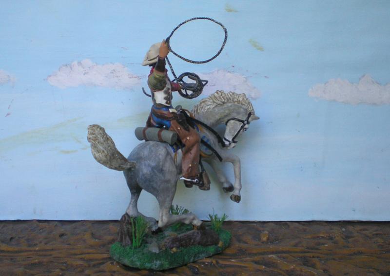 Cowboy zu Pferd mit Lasso - Umbau in der Figurengröße 7 cm - Seite 2 139j4b12