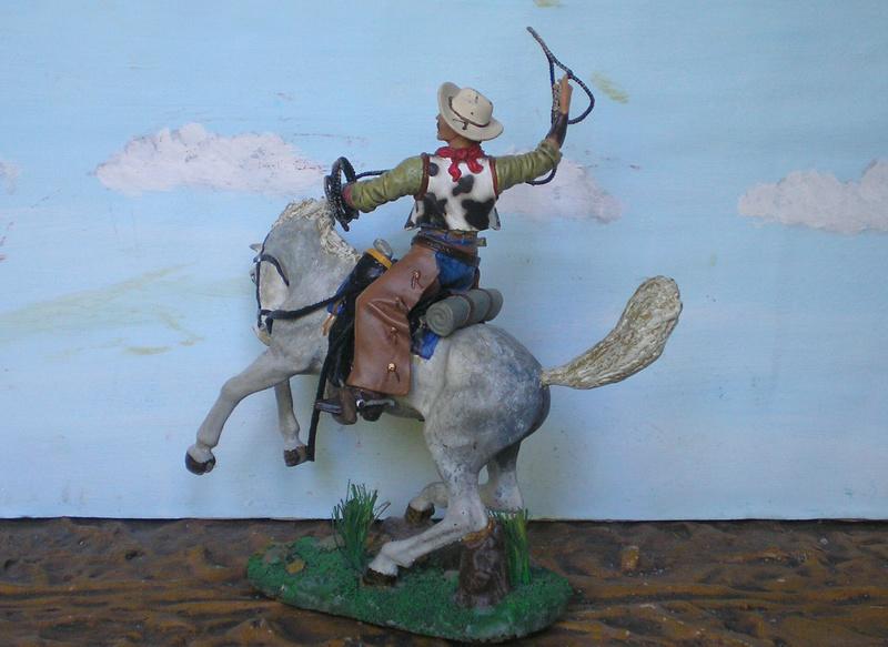 Cowboy zu Pferd mit Lasso - Umbau in der Figurengröße 7 cm - Seite 2 139j4b13