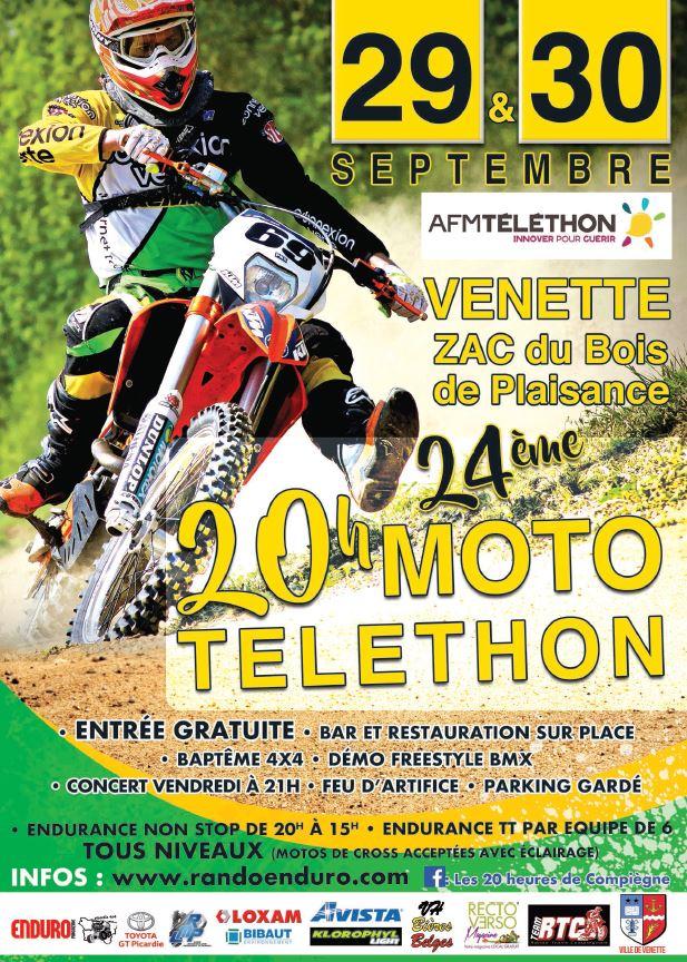 Les 20 Heures de Compiègne Téléthon 2017 Affich11