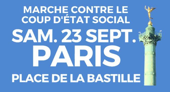Distribution du tract d'appel à la marche insoumise du 23 septembre Marche10