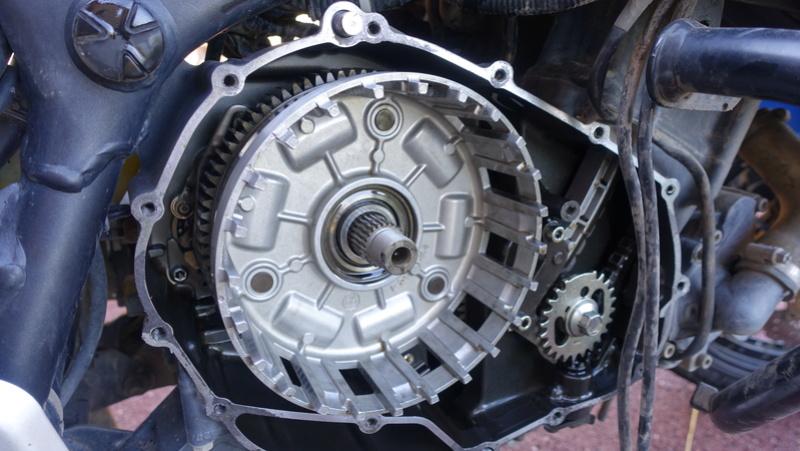 XTZ 1200 Cloche d'embrayage à ressort cassée Dsc06411