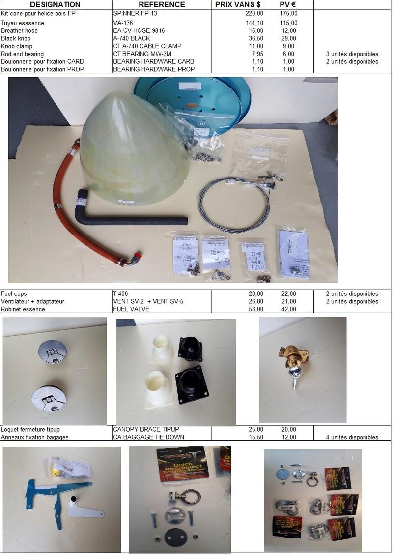 Diverses pièces neuves origine Vans Aircfrat Pieces10