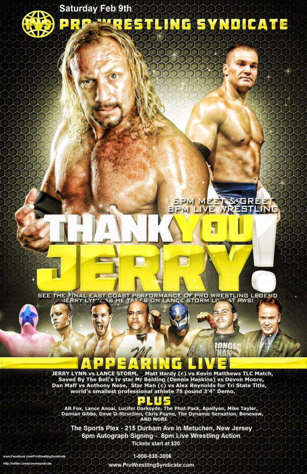 Pro Wrestling Syndicate Thank You Jerry du 09/02/2013 40674710