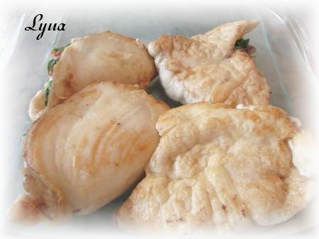 Escalopes de poulet au prosciutto et fines herbes Escalo11