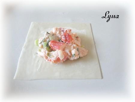 Raviolis au homard, sauce crème et fines herbes Raviol11