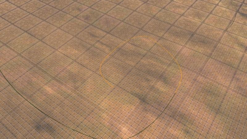 """Comment réaliser des lignes étroites avec les """"textures de places"""" Gamesc35"""