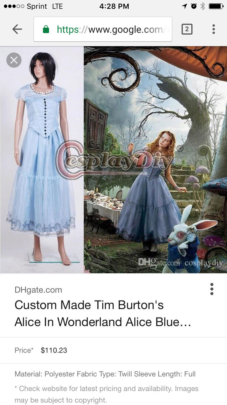 Can anyone make this Alice Cosplay Dress????? Img_3011