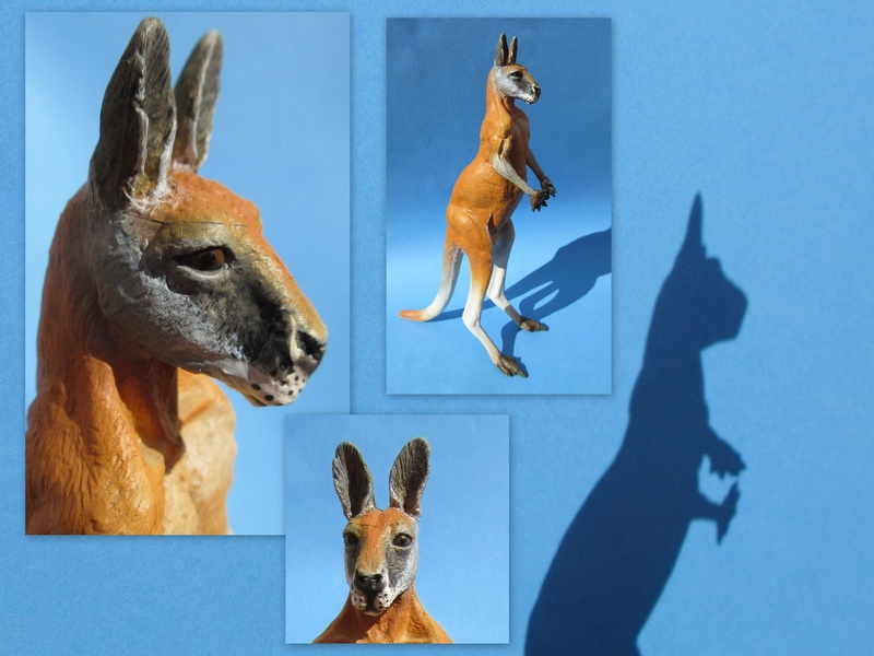 Great Red Kangaroo standing by Southlands 2017-055