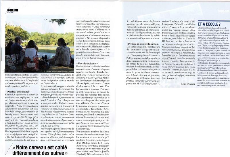 Reportage sur Les Z rennais sur le magazine Bikini Bikini20