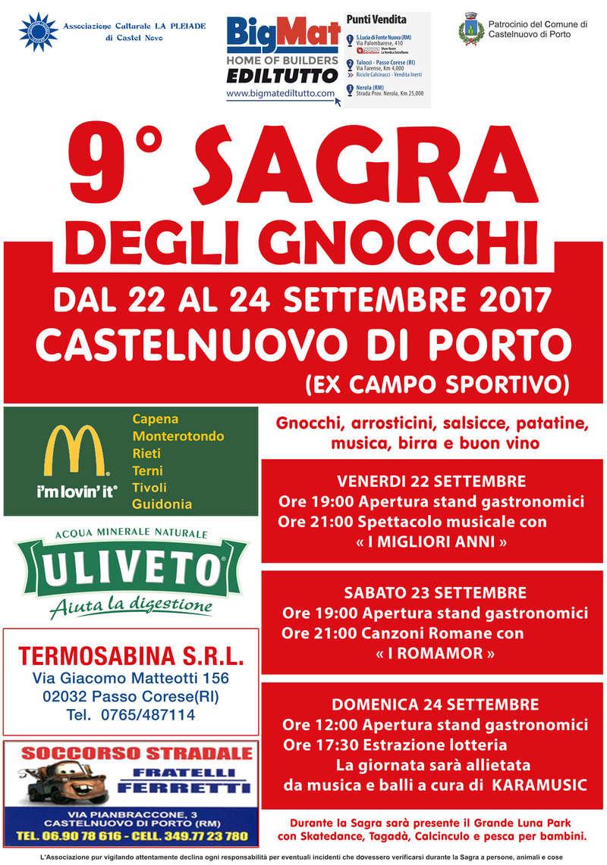 9° SAGRA DEGLI GNOCCHI a Castelnuovo di Porto il 22, 23, 24 settembre 2017 Sagra_10