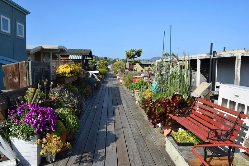 Les Houseboats à Sausalito en Californie aux États-Unis. 10995410