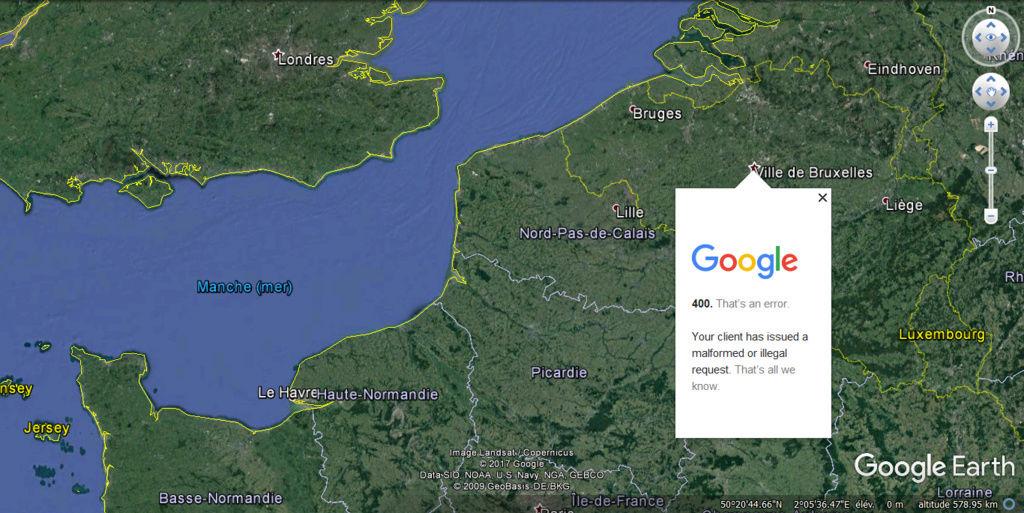 [Résolu] Affichage de la fenêtre des villes [problème technique Google Earth] Probly10