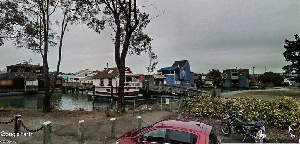 Les Houseboats à Sausalito en Californie aux États-Unis. Sausal11