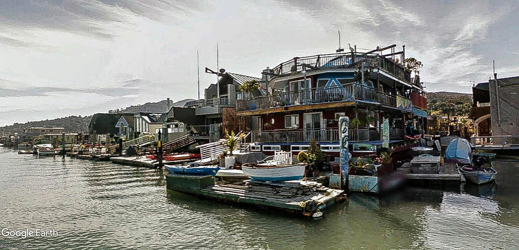 Les Houseboats à Sausalito en Californie aux États-Unis. Sausal17