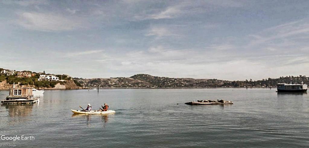 Les Houseboats à Sausalito en Californie aux États-Unis. Sausal19