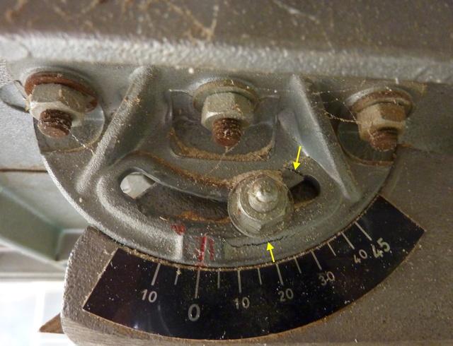 Pièce cassée sur Scie à ruban Kity 612 Sar211