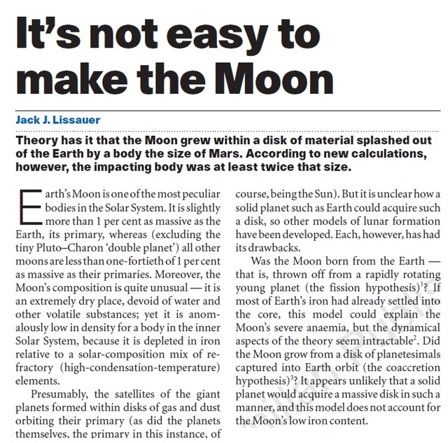The moon, essential for life on earth Moon10